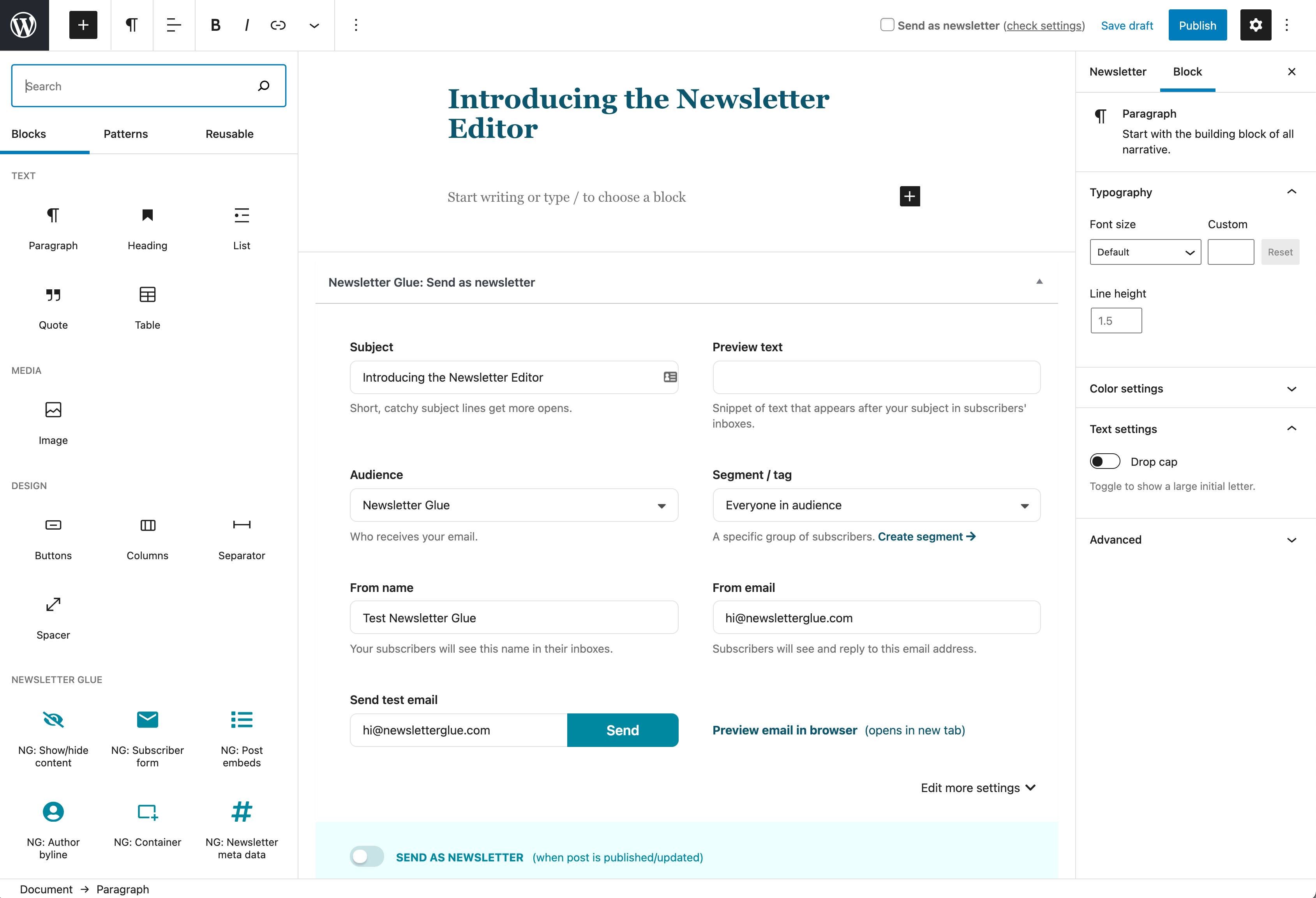 Introducing the Newsletter Editor
