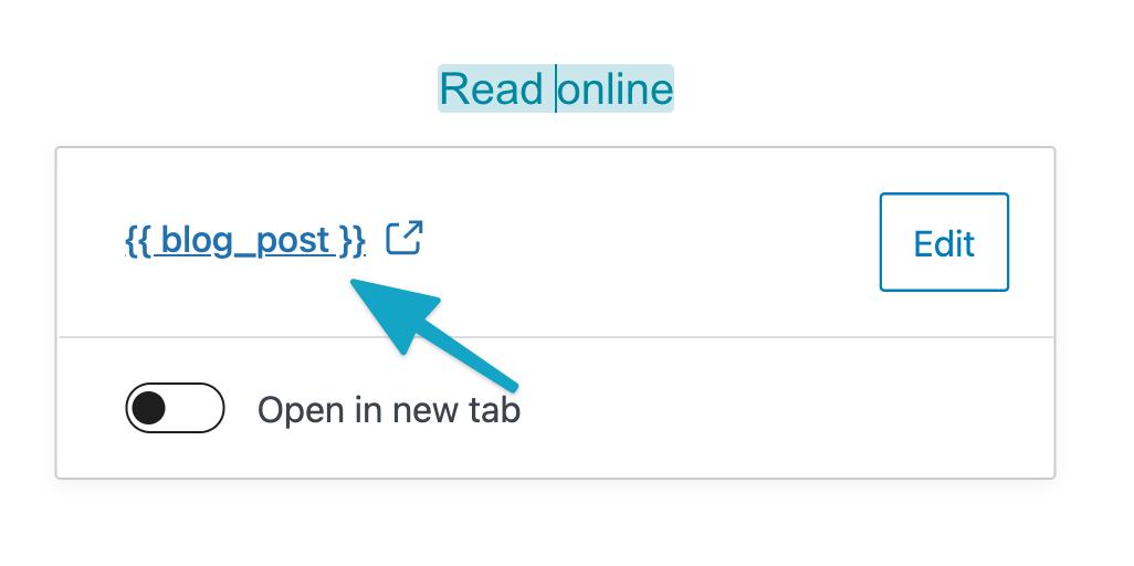 Change mergetag URL