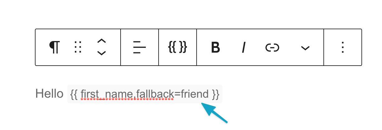 Mergetag fallback=friend